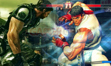 Chris-resident-evil-Ryu-Street-Fighter