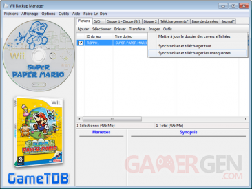 jaquette wii backup manager