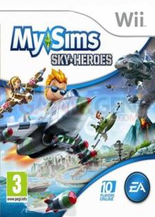 mysims skyheroes wii jaquette