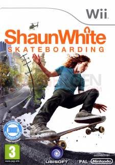 shaun white skateboarding wii jaquette