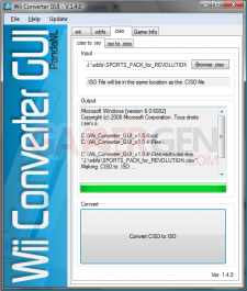 Wii unscrambler change de nom et devient wii converter gui for Window unscramble